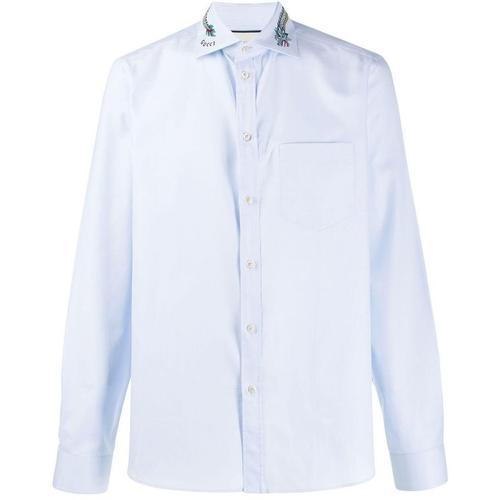 Gucci 'Duke' Hemd mit Drachenstickerei