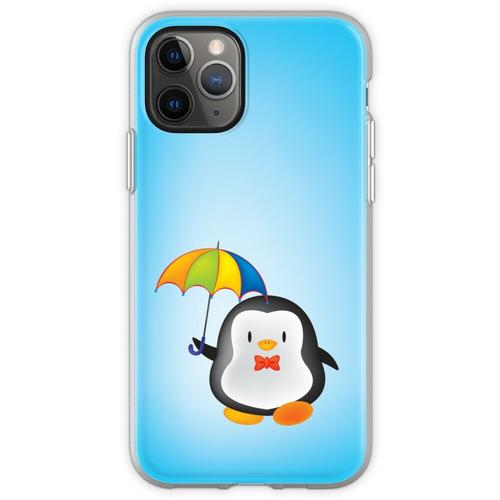 Regenschirm Pinguin Flexible Hülle für iPhone 11 Pro