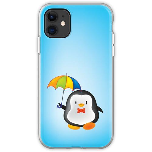 Regenschirm Pinguin Flexible Hülle für iPhone 11