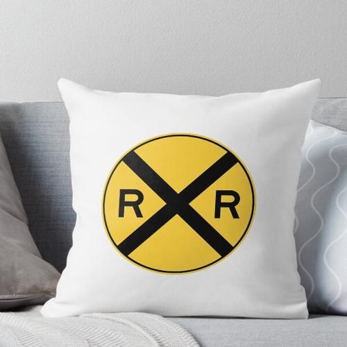 Eisenbahnwarnung Kissen