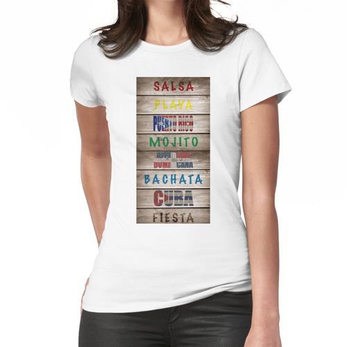 Salsa Es La Cura Holzplatte Frauen T-Shirt