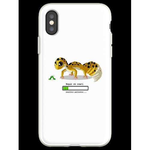 Geckos Fütterungszeit Flexible Hülle für iPhone XS