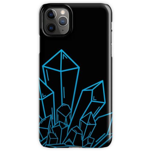 Blauer Kristallblock Auf Schwarzem iPhone 11 Pro Max Handyhülle