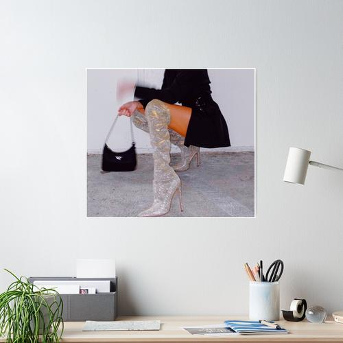 Mode Bougie Stiefel Poster