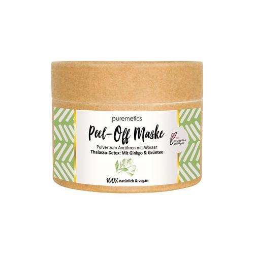 puremetics Pflege Peeling & Masken Thalasso-Detox: Mit Ginkgo & Grüntee Peel-Off Gesichtsmasken 65 g