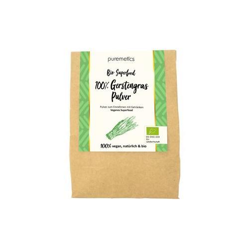 puremetics Pflege Bio Superfoods Gerstengras-Pulver 200 g