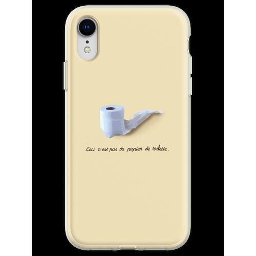 Dies ist kein Toilettenpapier. (Ceci n'est pas du papier de toilette.) Flexible Hülle für iPhone XR
