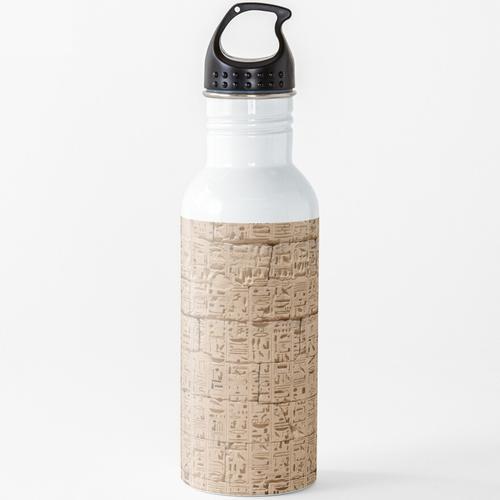 Hieroglyphen bei Medinet Habu Wasserflasche