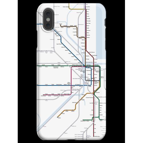Chicago Eisenbahnkarte iPhone XS Max Handyhülle
