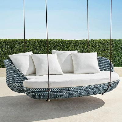 Malia Hanging Daybed In Ocean Finish, Baleares Daybed Outdoor Furniture Cover