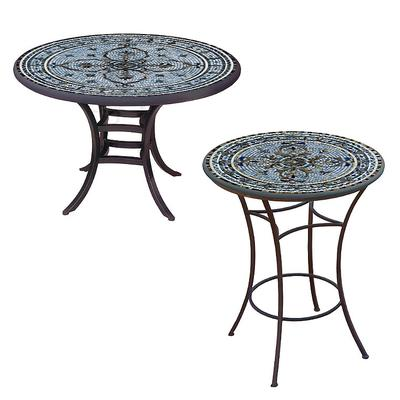 KNF Roma Round Bistro Table - Bl...