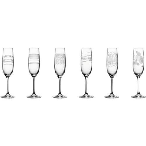 LEONARDO Sektglas Casella, (Set, 6 tlg.), 190 ml farblos Sektgläser Champagnergläser Gläser Glaswaren Haushaltswaren