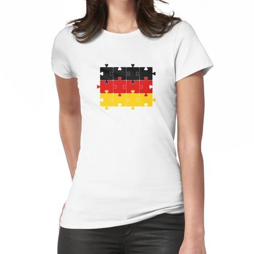 Autismus Herz Puzzle von Deutschland Flagge Frauen T-Shirt