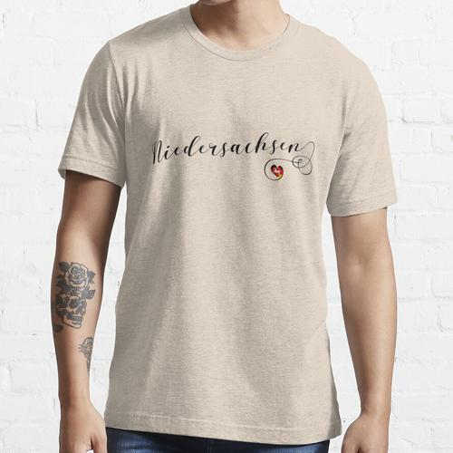 Niedersachsen, Niedersachsen Herzflagge Essential T-Shirt