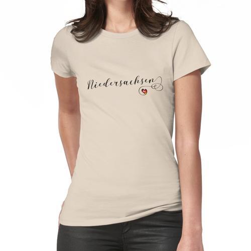 Niedersachsen, Niedersachsen Herzflagge Frauen T-Shirt