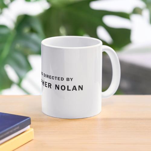 Christopher Nolan Aufkleber Tasse