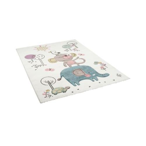 Kinder Teppich Maui Kids Lustige Tiere Bunt Spielteppiche creme