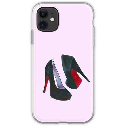 Schwarze Damenschuhe Flexible Hülle für iPhone 11