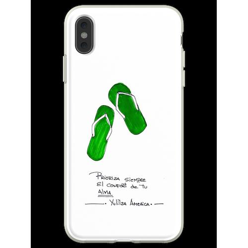Komfort Sandalen Flexible Hülle für iPhone XS Max