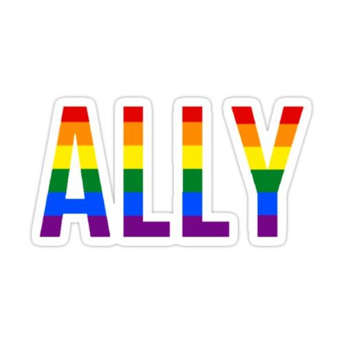 ALLY STICKER (GAY PRIDE) Sticker