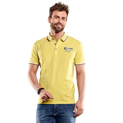 Besticktes Poloshirt Engbers Schwefelgelb
