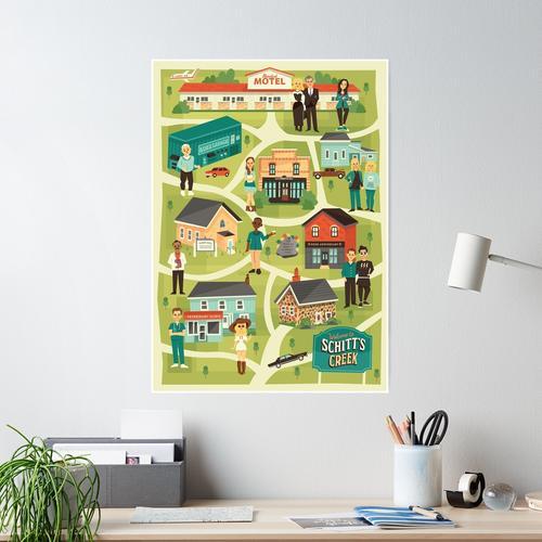 Stadtkarte Poster
