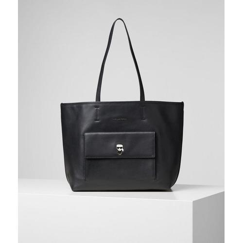 Karl Lagerfeld K/Ikonik Tote Bag mit Metall-Anstecker