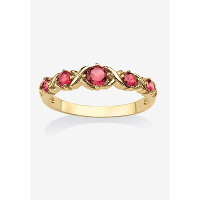 Plus Size Women's Yellow Gold-Plated Simulated Birthstone Ring by PalmBeach Jewelry in October (Size 7)