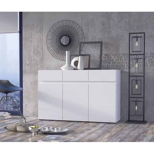 my home Sideboard, Breite 135 cm weiß Sideboard Sideboards Kommoden