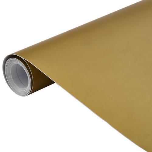 vidaXL Autofolie Matt Golden 200 x 152 cm