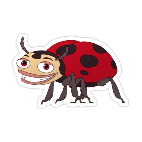 Big Mouth Ladybug Sticker