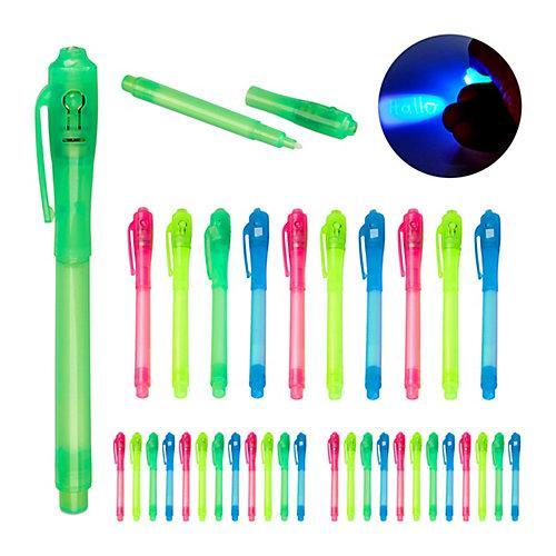 36 x UV-Stifte Geheimstifte UV Pen Zauberstifte UV-Licht Stifte Set Kinder bunt blau