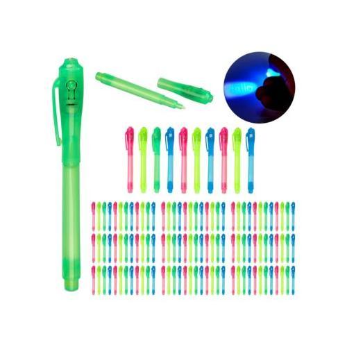 120 x UV-Stifte Geheimstifte Zauberstifte UV-Licht Stifte Set Kinder bunt UV Pen blau