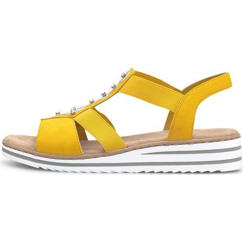 Rieker, Sommer-Sandale in gelb, Sandalen für Damen Gr. 42