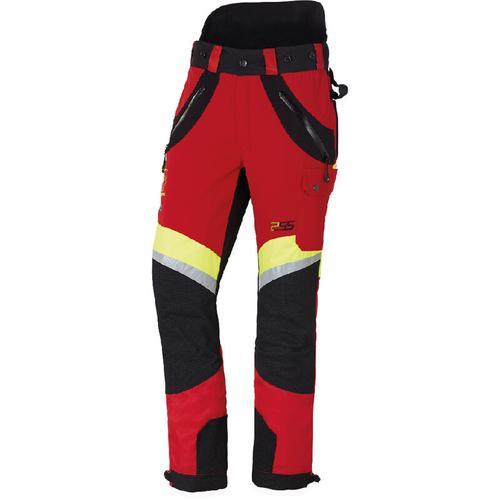 PSS - X-treme Air Schnittschutzhose rot/gelb, die Sportliche, Größe 94 schlank und groß