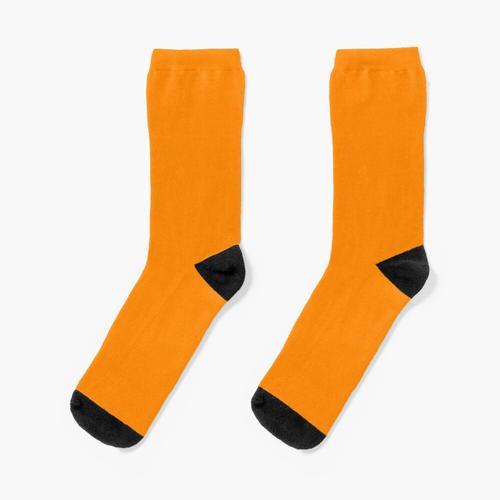 Neon orange Socken