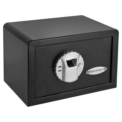 Barska AX11620 0.28 cu ft Biometric Security Safe w/ Fingerprint Lock – Steel, Black