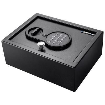Barska AX12622 0.21 cu ft Top Open Safe w/ Keypad Lock – Steel, Black
