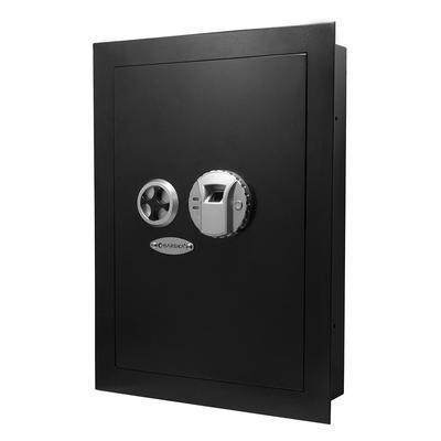 Barska AX12038 0.52 cu ft Biometric Wall Safe w/ Fingerprint Lock – Steel, Black