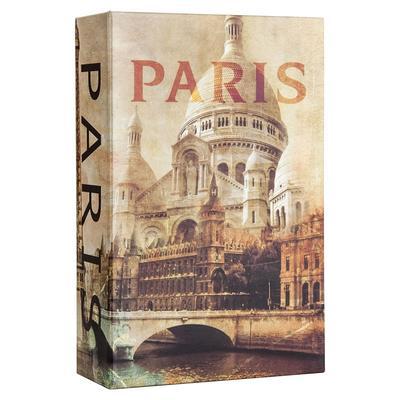 Barska CB12362 Paris Book Lock Box w/ Combination Lock – 3 3/4″W x 6 1/2″H x 1.5″D, Steel
