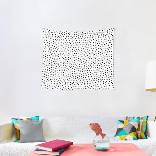 Monochrome Polka dot Wall Tapestry