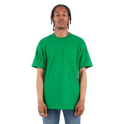 Shaka Wear SHMHSS Adult 7.5 oz. Max Heavyweight T-Shirt in Kelly Green size 5XL | Cotton
