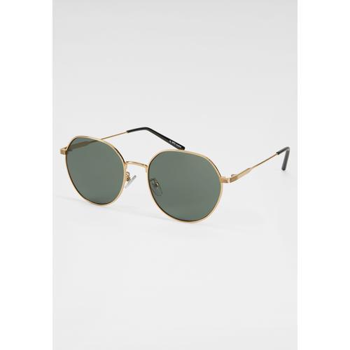 J.Jayz Sonnenbrille, leicht eckiger Vollrand goldfarben Damen Runde Sonnenbrille Sonnenbrillen Accessoires