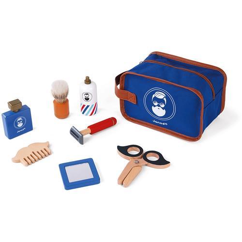 Janod Spielzeug-Frisierkoffer Rasier-Set, mit Zubehör blau Kinder Kinderkosmetik -schmuck Basteln, Malen, Kosmetik Schmuck