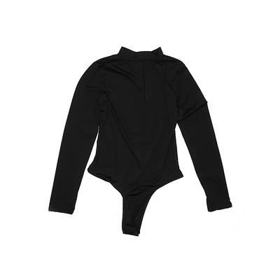 Bodysuit: Black Solid Clothing - Size Small