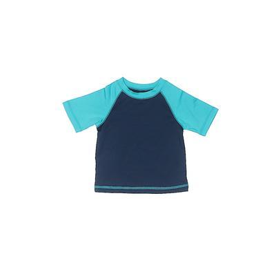 Wonder Nation Rash Guard: Blue Solid Sporting & Activewear – Size 0-3 Month