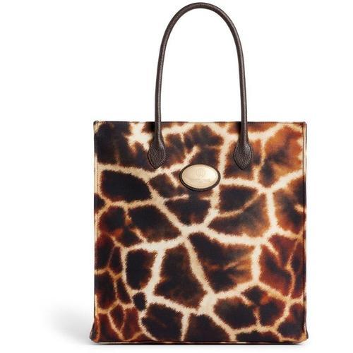 Roberto Cavalli Tote mit Giraffen-Print