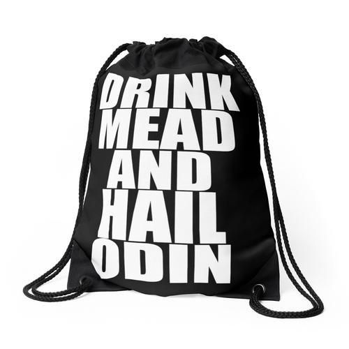 Trinke Mead und hagel Odin - Viking Rucksackbeutel