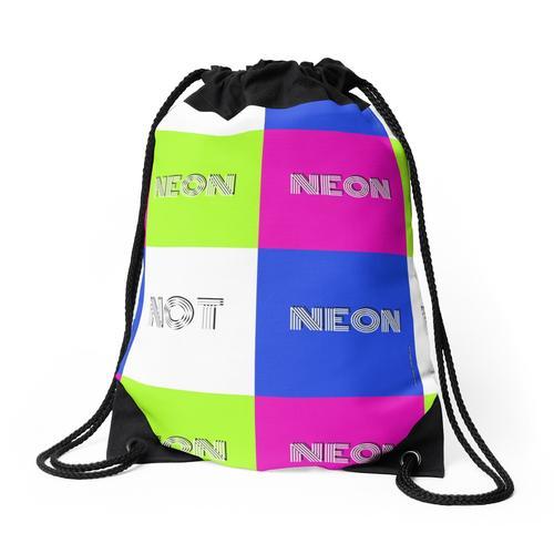 NEON NEON NEON NICHT Rucksackbeutel