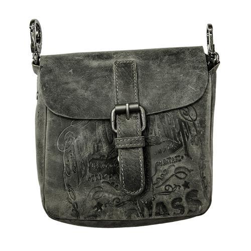 JACK'S INN 54 Gürteltasche Thunder, aus Leder als oder Umhängetasche tragbar schwarz Damen Taschen